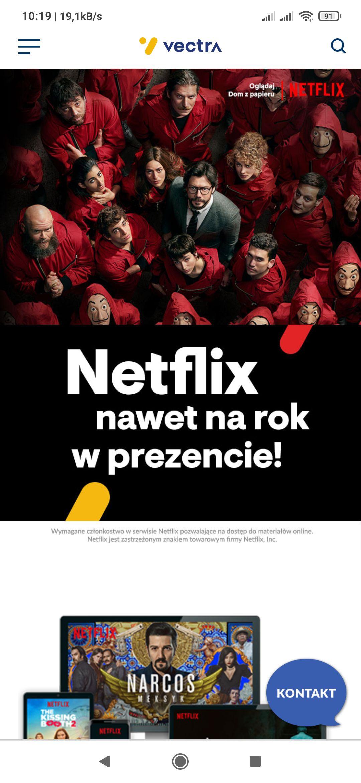 Netflix gratis nawet na rok do umowy