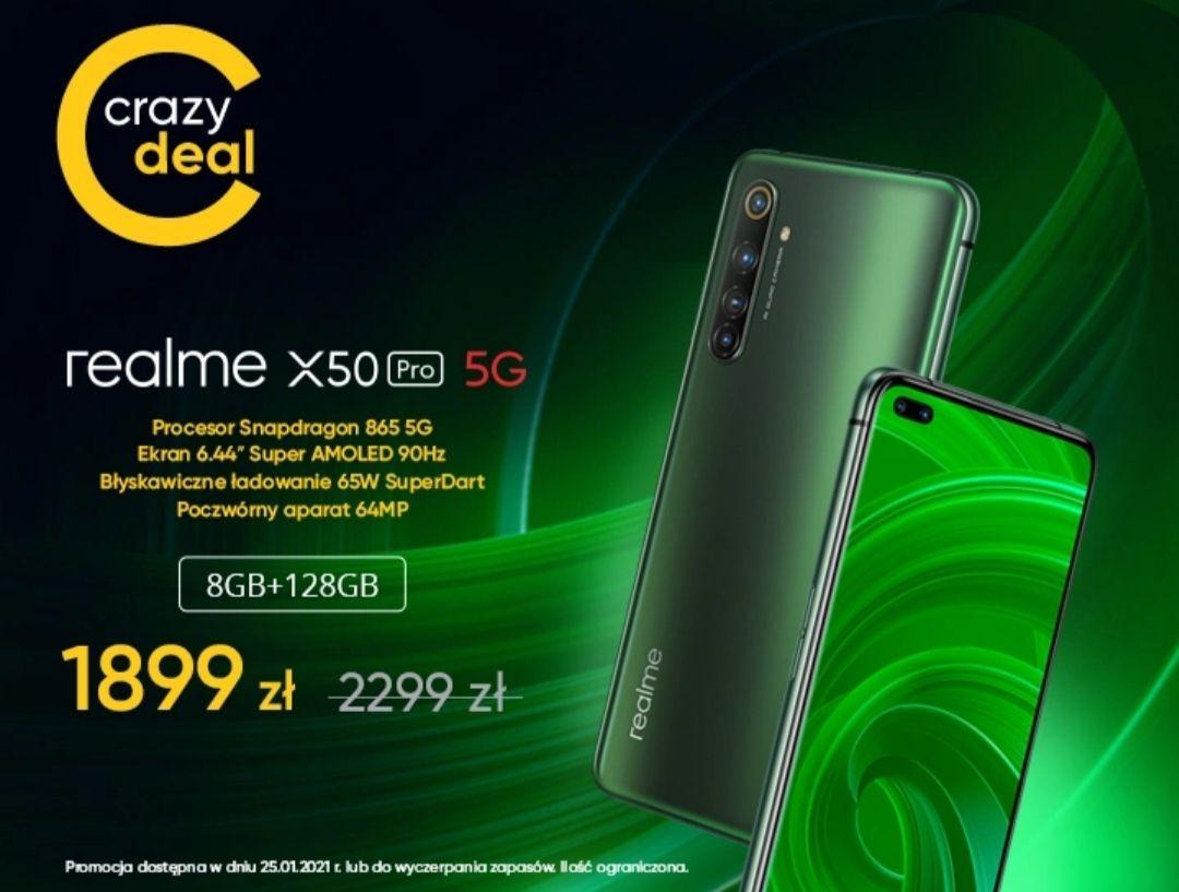Realme X50 Pro 5G 8GB 128GB Moss Green Promocja startuje 25.01.2021 09:00