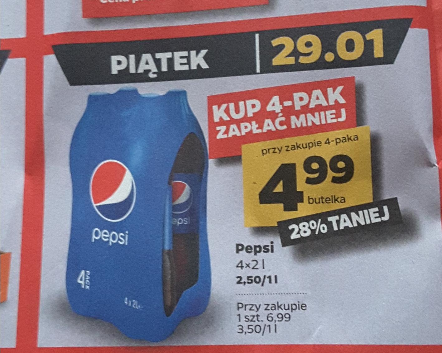 Pepsi 2 litry w Netto TYLKO 29.01