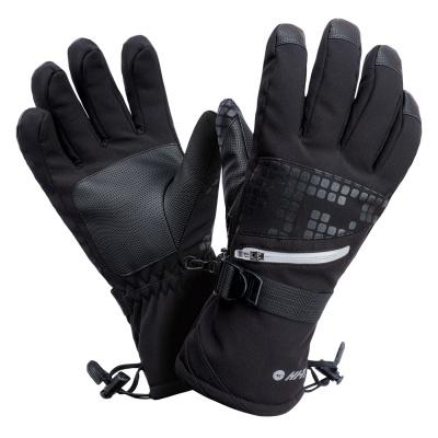 Męskie rękawice narciarskie HI-TEC RODEN 68887-BLK/REFLECTIVE