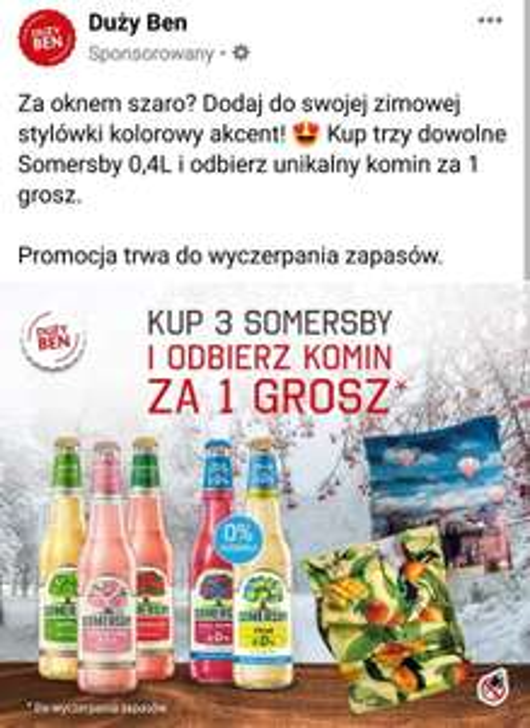 3 somersby= komin za 1 grosz