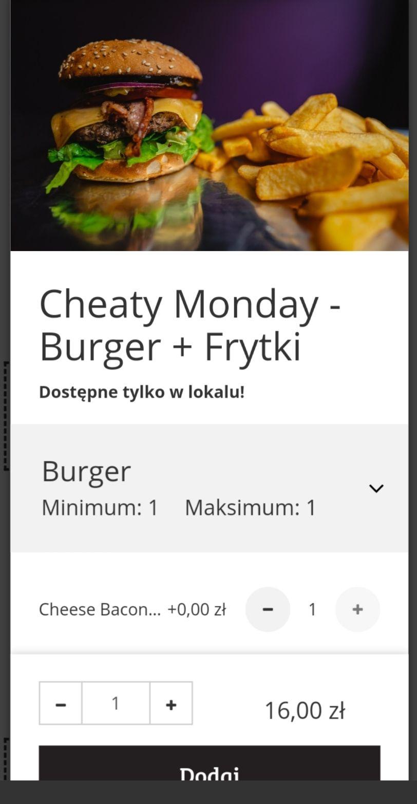 Cheaty burger w Bobby burger