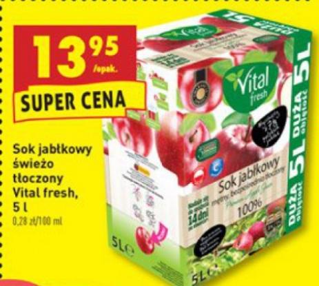 Sok jabłkowy świeżo tłoczony Vital Fresh 5l @ Biedronka