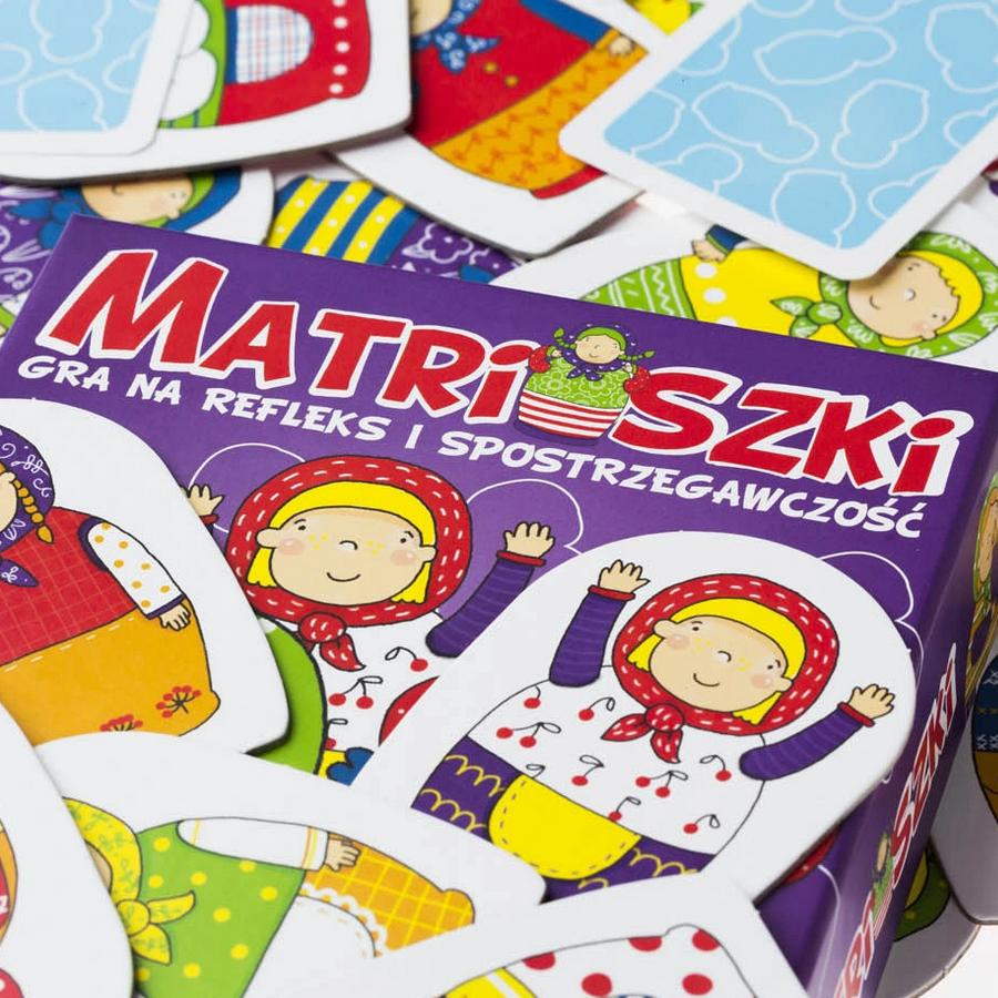 Matrioszki - Familijna gra na refleks i spostrzegawczość