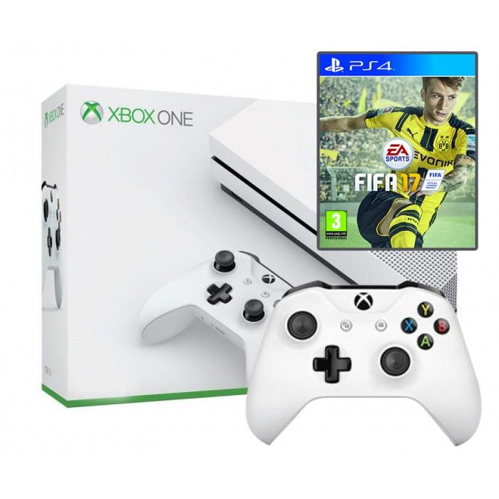 XBOX ONE S + FIFA + 2 PADY
