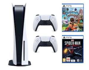 Konsola SONY PlayStation 5 + Dodatkowy kontroler DualSense + Marvel's Spider-Man: Miles Morales + Sackboy: A Big Adventure PS5