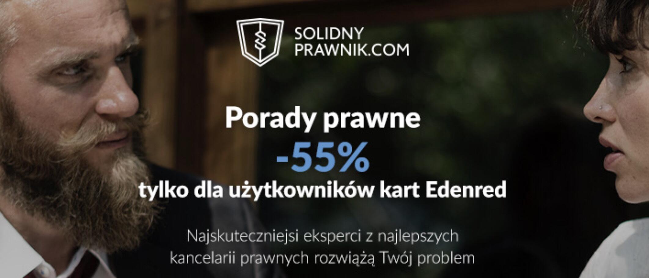 Porady Prawne online -55% dla posiadaczy karty Edenred