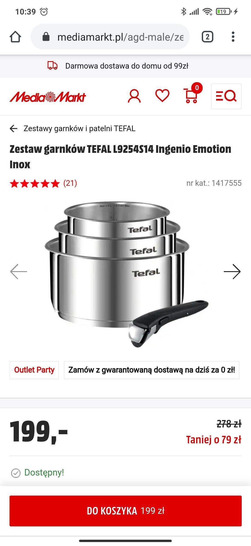 Zestaw garnków TEFAL L9254S14 Ingenio Emotion Inox