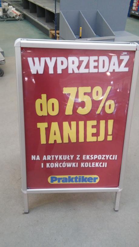 Praktiker Rybnik likwidacja sklepu - 75 %