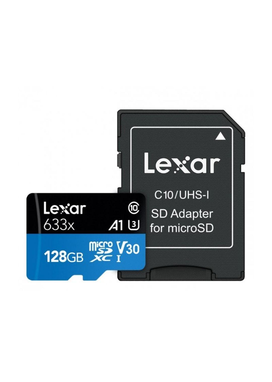 Lexar 128GB microSDXC High-Performance 633x UHS-I A1 V30