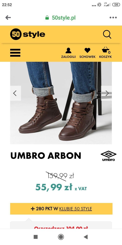 Laczki Umbro parę rozmiarów.