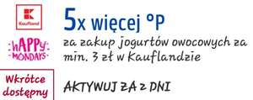 KUPON PAYBACK KAUFLAND 5x więcej punktów za zakup JOGURTÓW OWOCOWYCH
