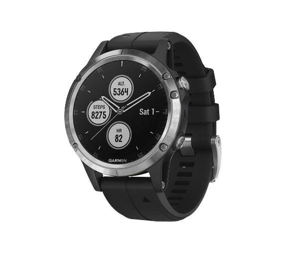 Zegarek sportowy do biegania Garmin Fenix 5 Plus (srebrny z czarnym paskiem) na raty w euro rtv AGD