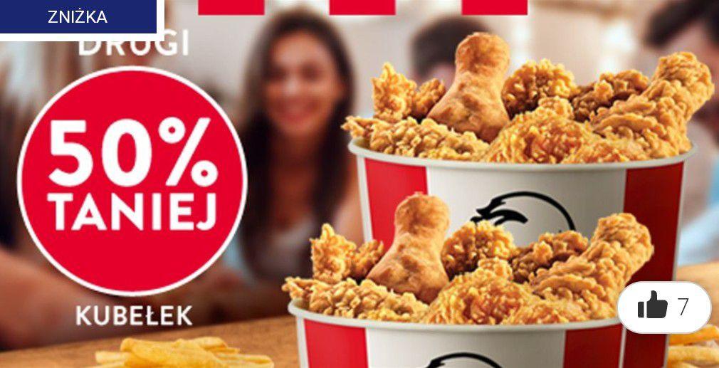 W KFC do niedzieli kupujesz kubełek, a drugimasz 50% TANIEJ!