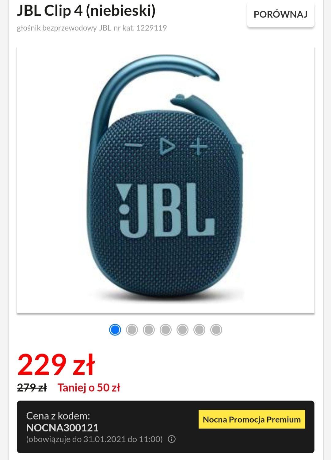 Głośnik bezprzewodowy JBL Clip 4 (niebieski)