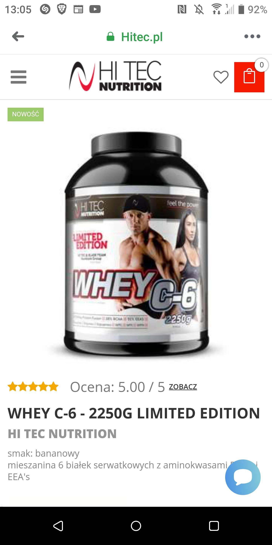 Białko 2,25 kg Hi Tec Nutrition -50%, różne smaki.