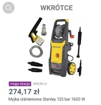 STANLEY Myjka ciśnieniowa 125bar 1600W SXPW16E