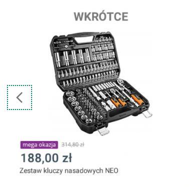 NEO 08-666 Zestaw kluczy nasadowych walizka 110el