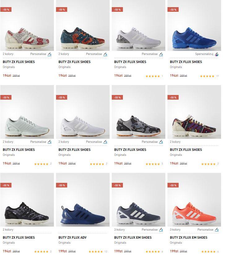Buty Adidas ZX FLUX - 150 modeli, dużo rozmiarów od 194zł + DODATKOWE 20% rabatu @ Adidas