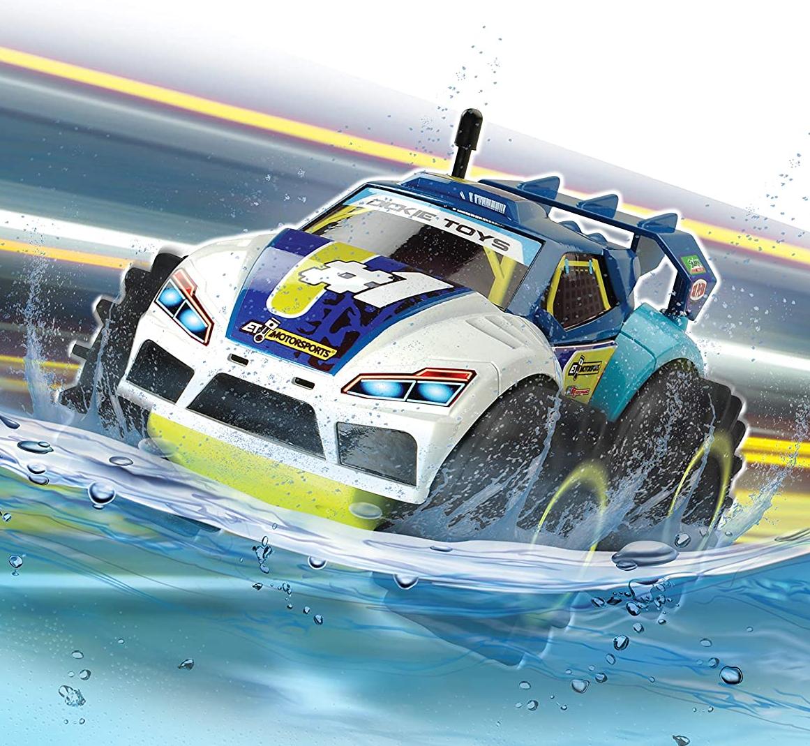 Amphy Rider - Samochód zdalnie sterowany @Empik / Funkcja amfibii, 4x4, obrót 360°