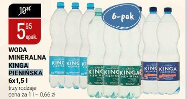 Woda mineralna Kinga Pienińska, cena za 1 zgrzewkę, hipermarket bi1