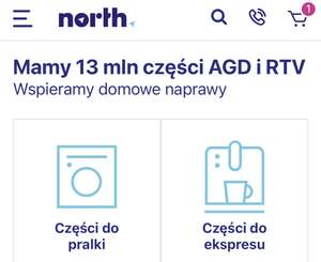 North.pl -5% za newsletter (części AGD)