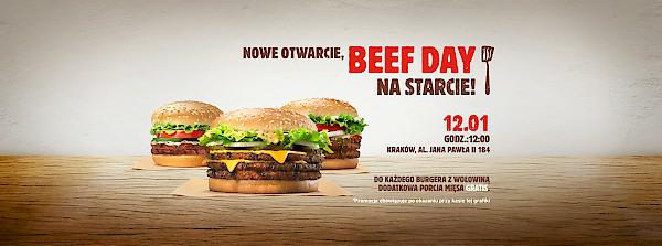 12.01. Beef Day -otwarcie Burger King w Krakowie (Czyzyny)