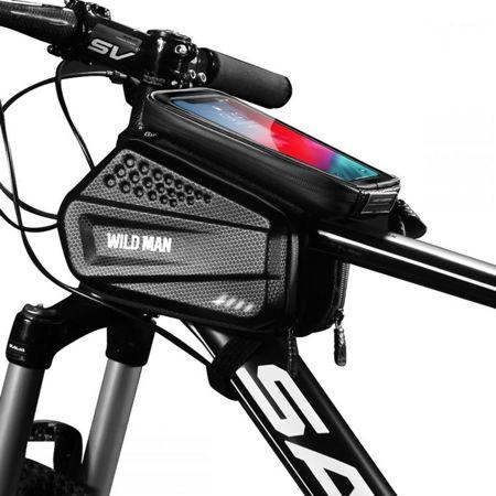 "SAKWA z etui na telefon na rower - WILDMAN HARDPOUCH BIKE MOUNT ""XXL"" BLACK"