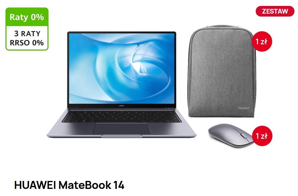 HUAWEI MateBook 14 - Szary Gratis Torba i Myszka