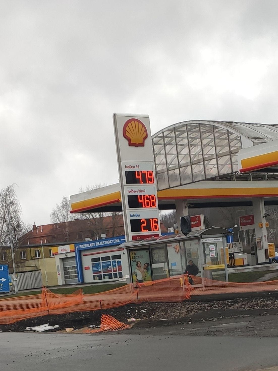 Gaz LPG na Shellu w Wałbrzychu ul. Kolejowa.