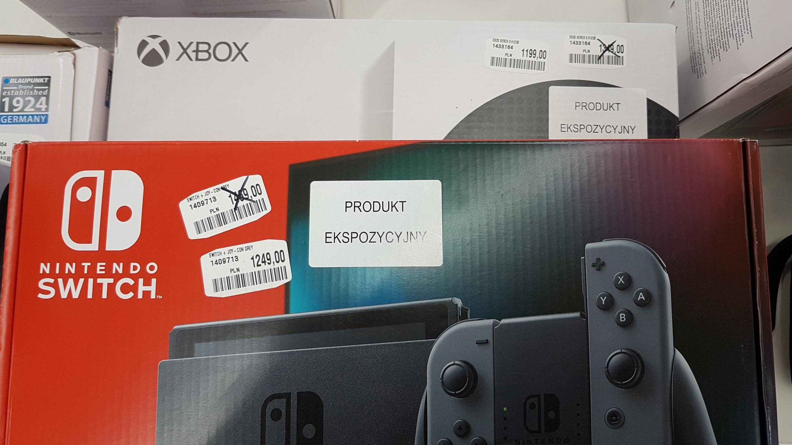 Wyprzedaż konsol switch i Xbox one series S w Media Markt