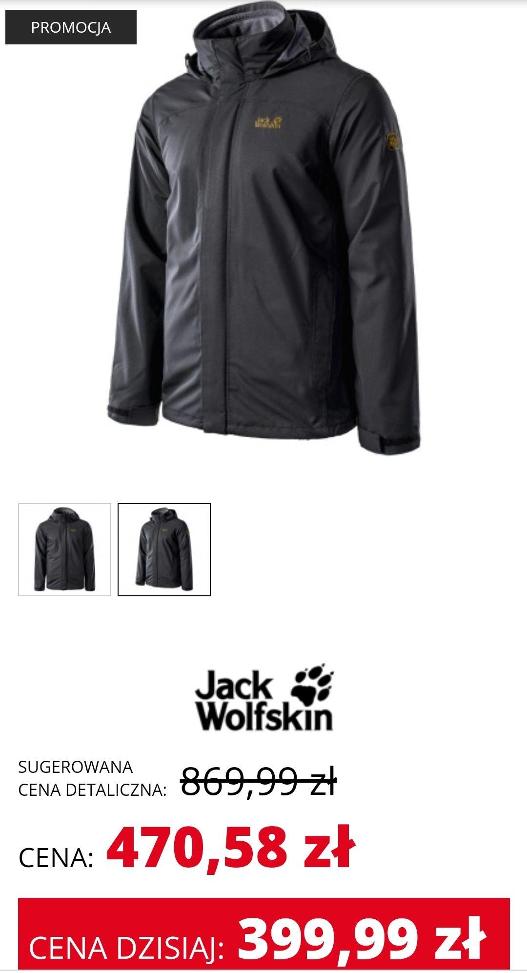 Męska kurtka Jack Wolfskin Tahoe Trail 3in1 (możliwa cena 359,99 zł ze zwrotem 40 zł od visa oferty)