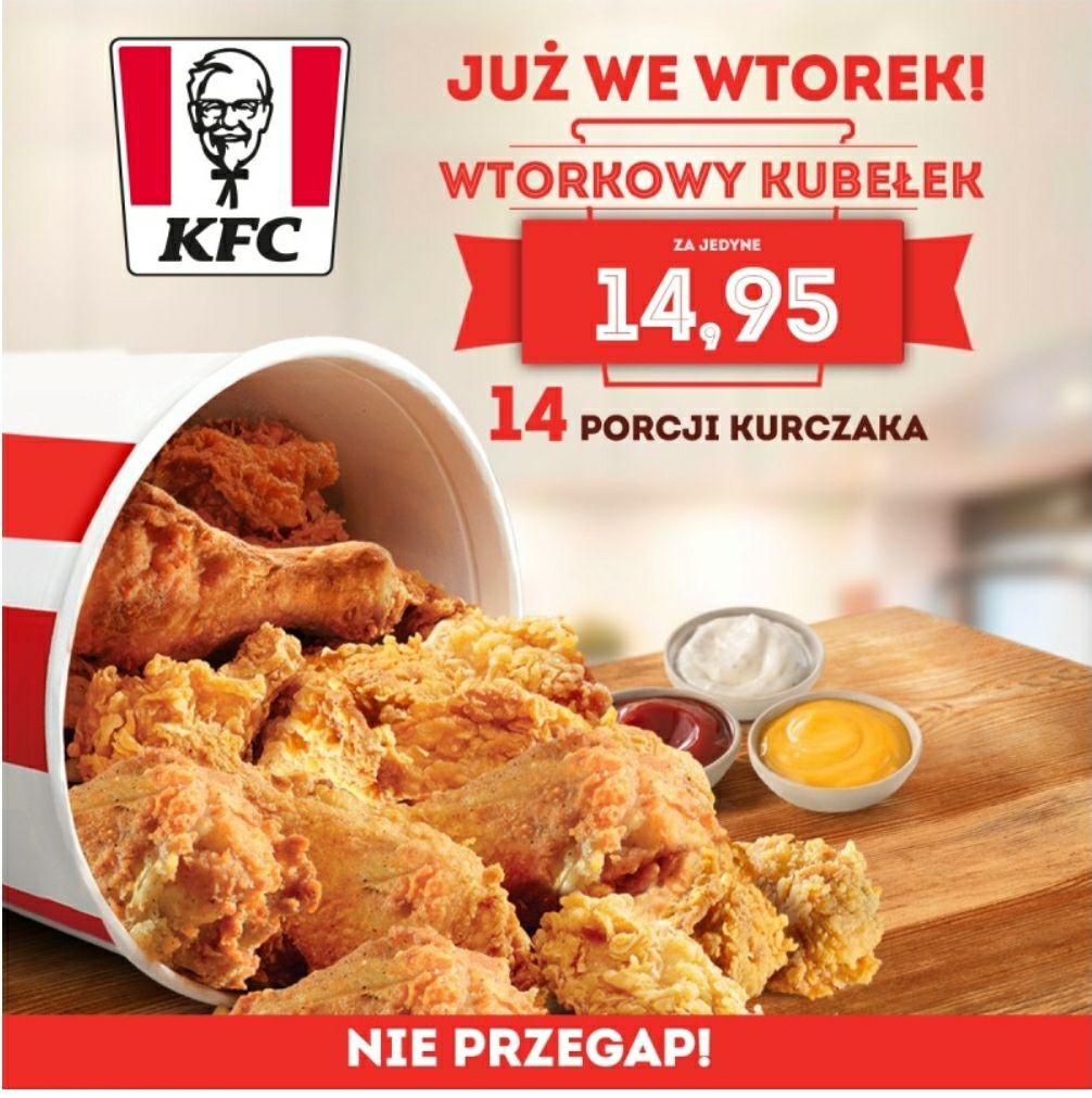 Wtorkowy kubełek KFC - 30 marca 2021 r. Ostatni dzień promocji!