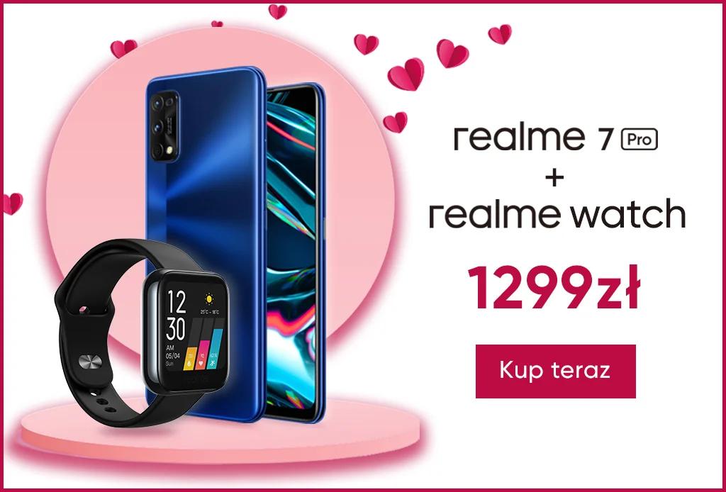 Smartfon Realme 7 Pro 8/128 + smartwatch Realme Watch gratis