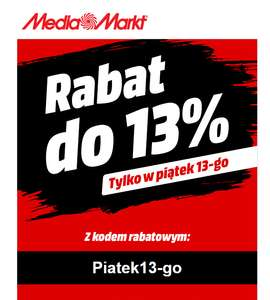 Rabat do 13% w MediaMarkt.pl 13.01