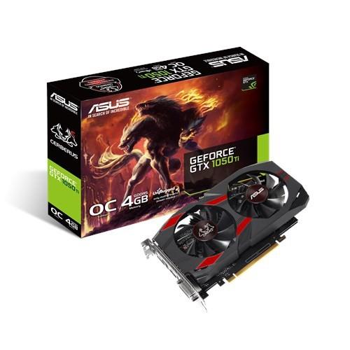 Asus GeForce GTX 1050 TI 4GB 128BIT DVI/HDMI/DP/HDCP [CERBERUS-GTX1050TI-A4G]