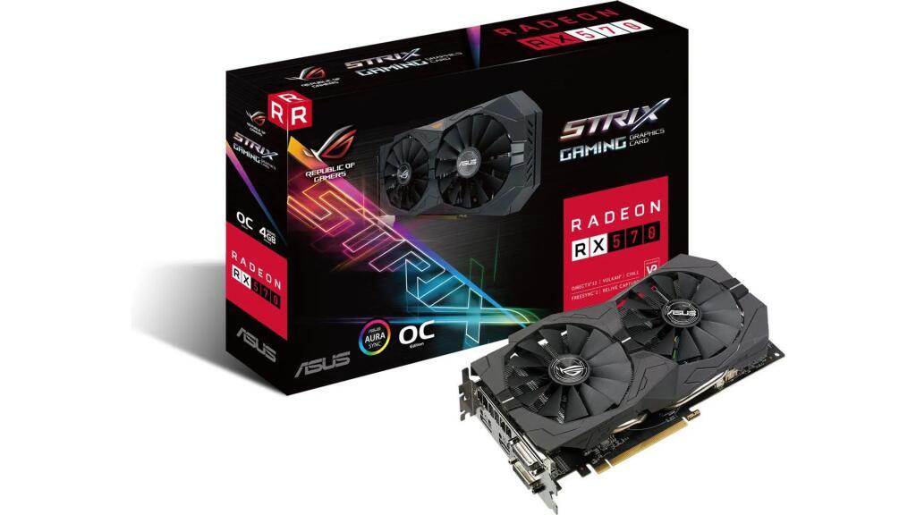 Karta graficzna Asus Radeon RX 570 4 GB ROG Strix