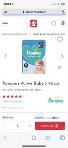 Pampers active baby za 29,99 w Superpharm