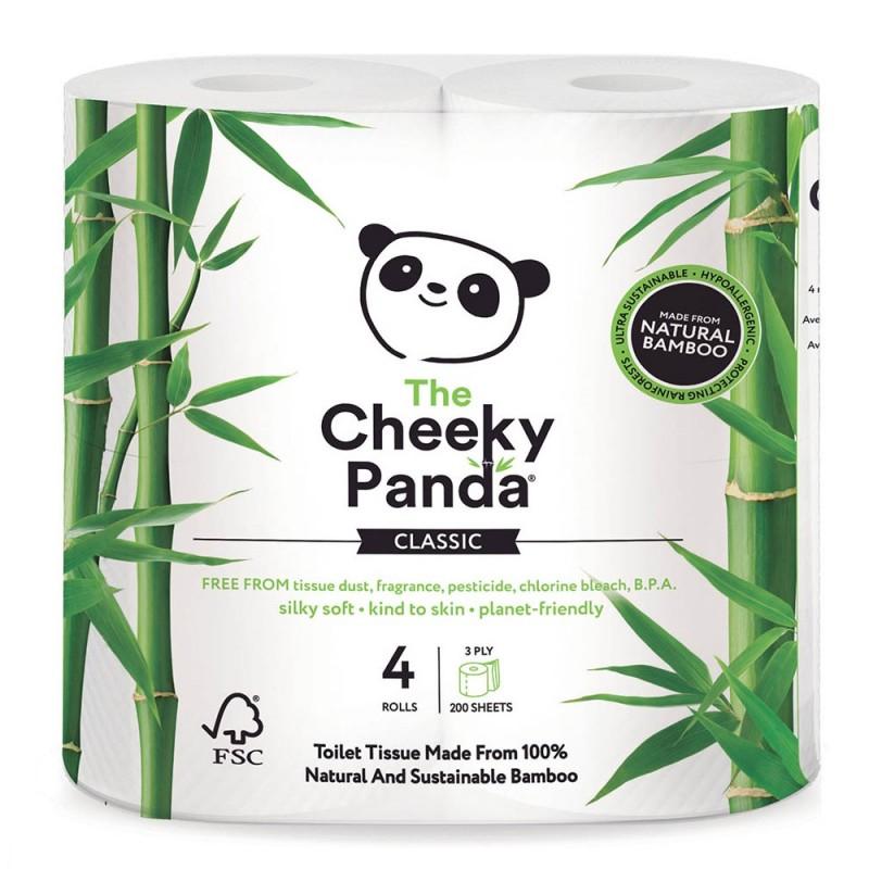 Papier toaletowy bambusowy Cheeky Panda 4 rolki