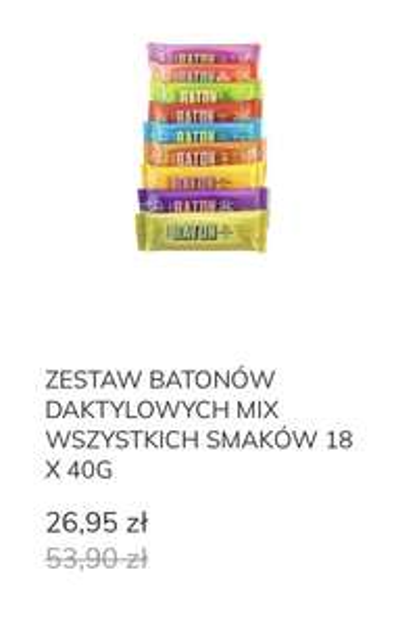 Batony daktylowe Krukam -50%
