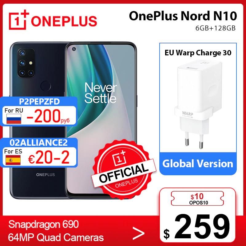 Smartfon OnePlus Nord N10 5G (6/128GB) z wysyłką z Polski @ AliExpress