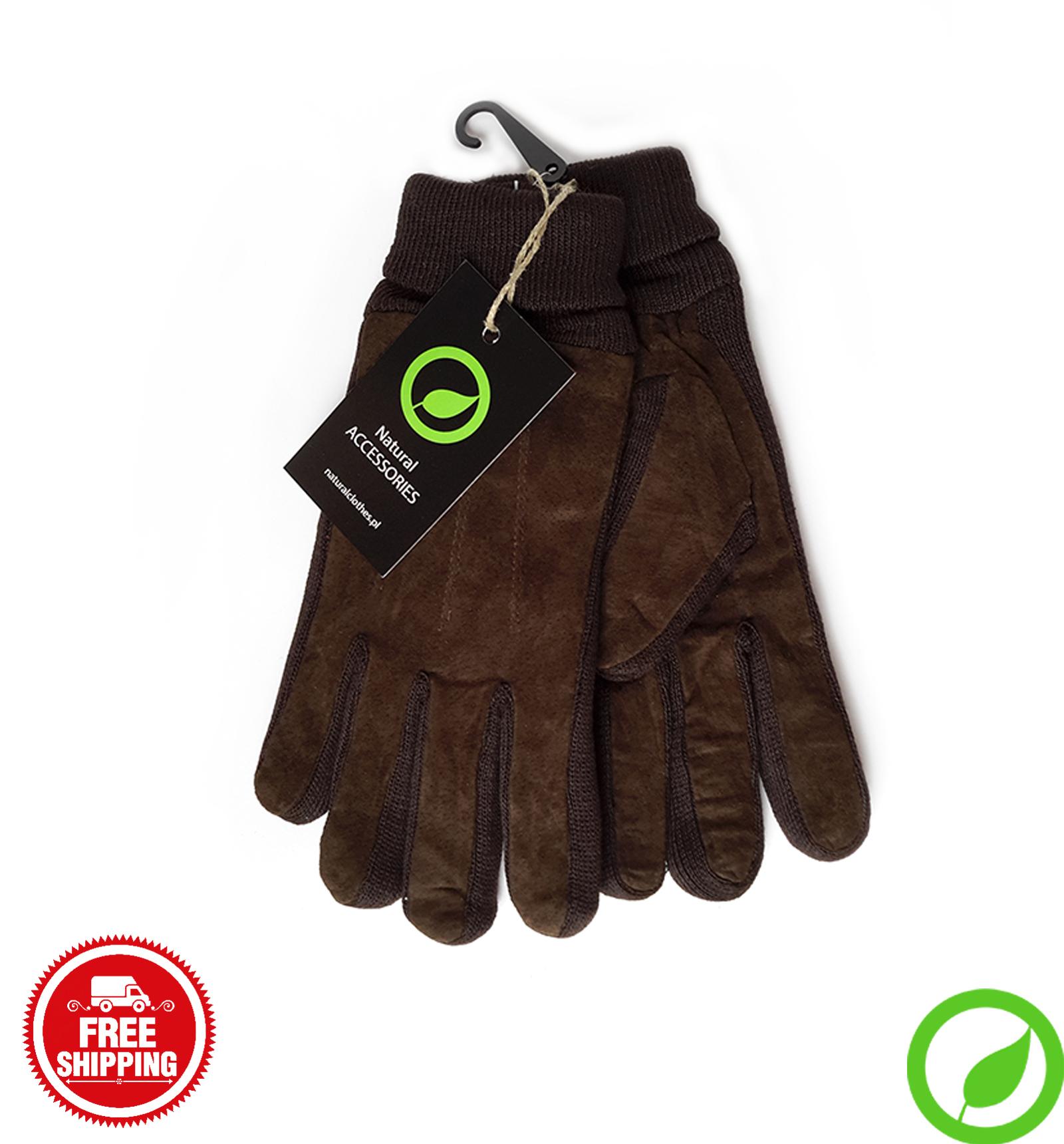 Skórzane rękawiczki z ociepleniem @ Natural Clothes