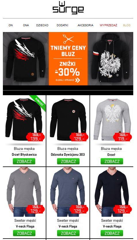Bluzy do -30% w @surgepolonia