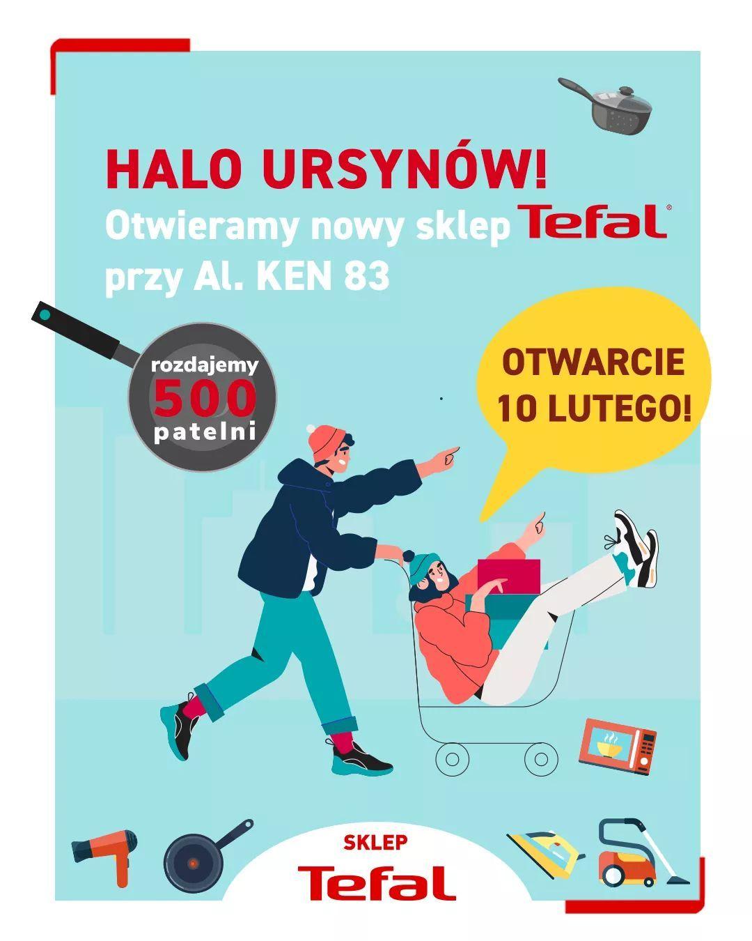 Darmowa patelnia Tefal przy zakupach za 50zł (limit 500szt) Warszawa