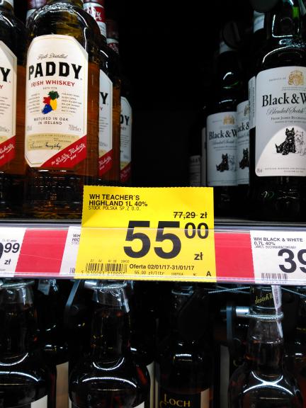 Whiskey teacher's highland 1l za 55 zł w Carrefour