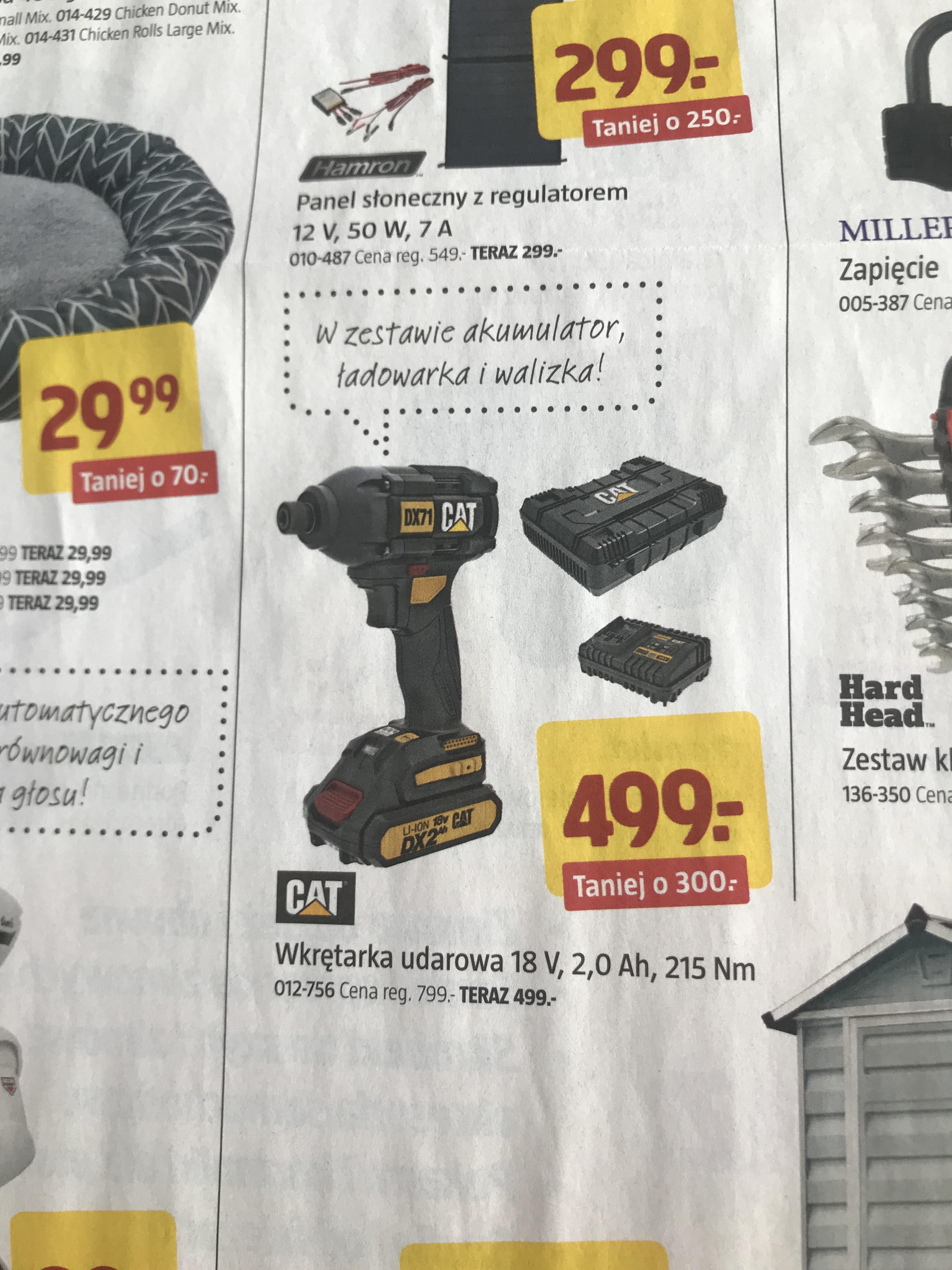 Wkrętarka udarowa CAT 18V Jula akumulator ładowarka i walizka gazetka