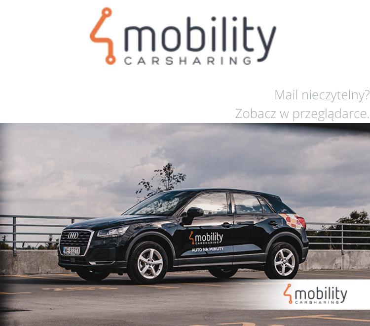 4Mobility Car Sharing kody -20zł -30zł dla Krakowa wynajem samochodu