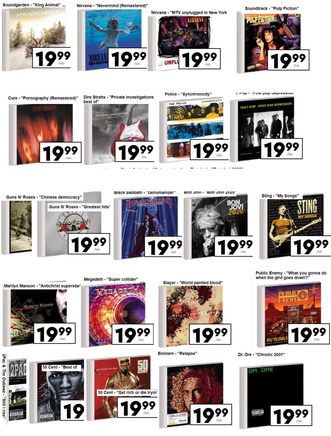 Płyty CD - BIEDRONKA [08.02.2021] - Soundgarden i inne