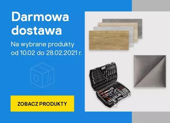 Darmowa dostawa na wybrane produkty (m.in. gresy i panele) @ Castorama