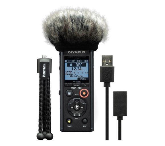 Pakiet podcastera - dyktafon Olympus LS-P4 (+ mini statyw, osłona przeciwwiatrowa) @ OleOle